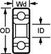 3x7x3 Bell Crank Bearing